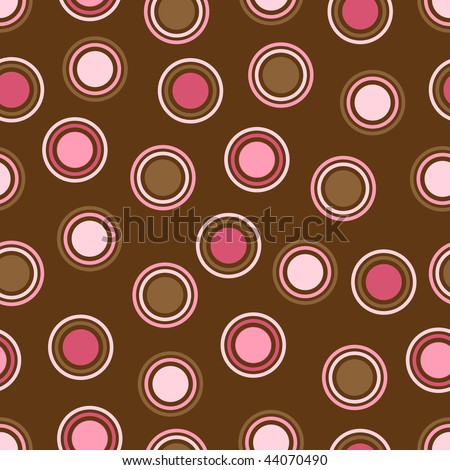 Brown and Pink Polka Dot Vector