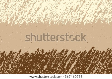 Brown and white hand drawing copy space on craft paper background. Banner seamless background. Charcoal crayon art lines, vector. - stock vector