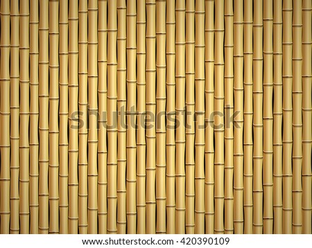 Brown bamboo stick pattern background. - stock vector
