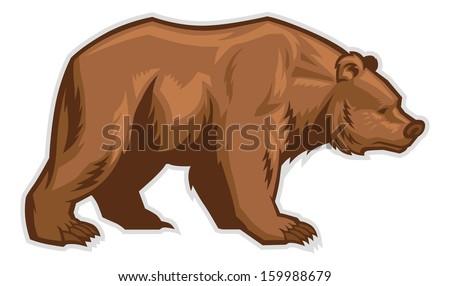 brown bear mascot - stock vector