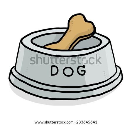 brown bone dog food cartoon vector stock vector 233645641 shutterstock rh shutterstock com