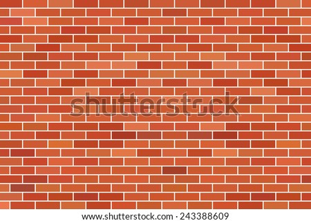 Brown brick wall background - Vector - stock vector