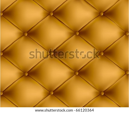 Brown button-tufted leather background. Vector illustration. - stock vector