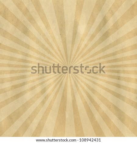 Brown Cardboard Structure With Sunburst, Vector Illustration - stock vector
