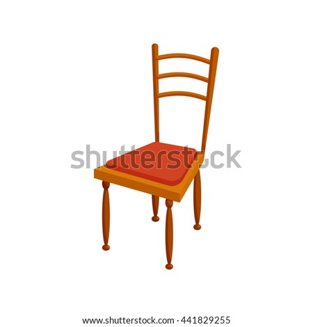 Brown chair icon in cartoon style on a white background - stock vector