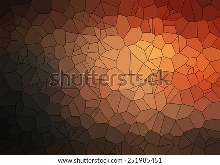 Brown 2D geometric abstract background - Illustration for web - stock vector