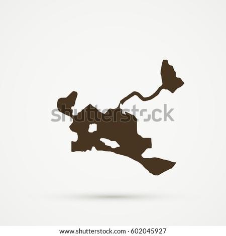 Brown Dhekelia Map Illustration Stock Vector 602045927 Shutterstock