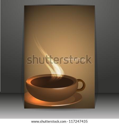 Brown elegant coffee background - stock vector