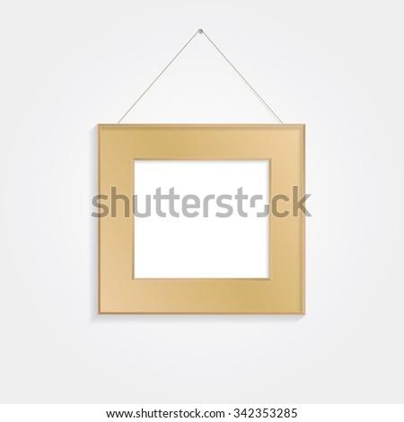 Brown frame vector background. - stock vector