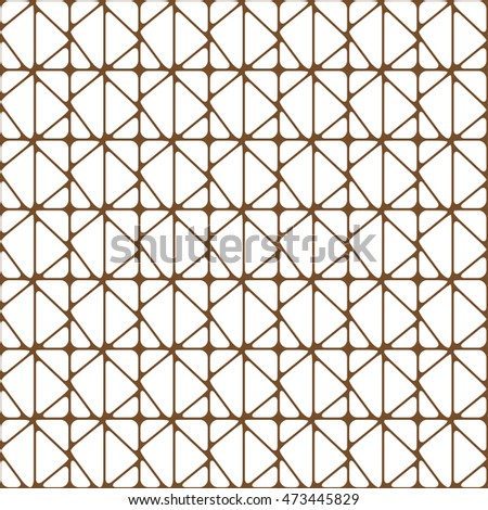 brown geometric pattern abstract vector background. Modern stylish texture.