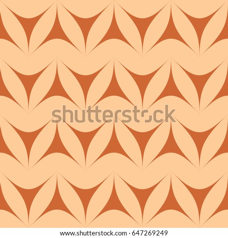 Brown geometric triangulars background. Curvilinear triangles. A symmetrical pattern. A seamless texture. Seamless geometric brown background.