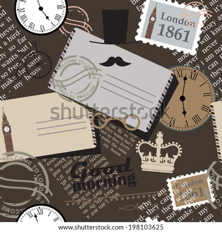brown memory background - stock vector