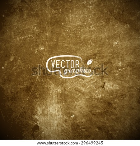 Brown metal plate in EPS10 - stock vector