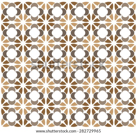 brown oval star pattern stacking