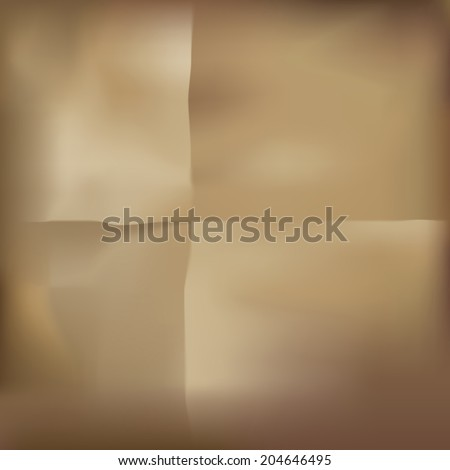 Brown paper as a grunge background. Vector illustration - stock vector