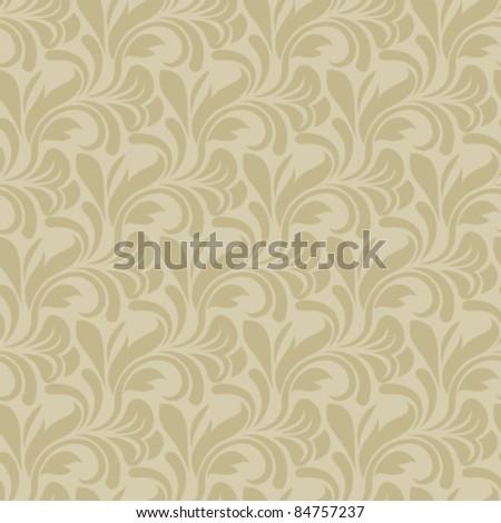Brown seamless wallpaper pattern - stock vector
