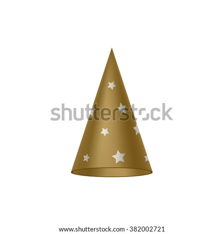 Brown sorcerer hat with silver stars