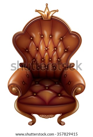 Brown throne with lily