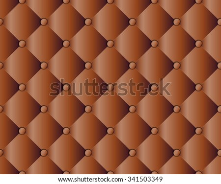 Brown upholstery sofa texture pattern background seamless, vector