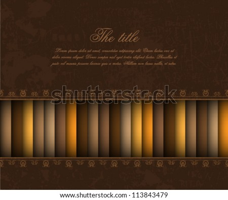 brown vintage background - stock vector