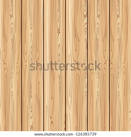 Brown wood panel background. - stock vector