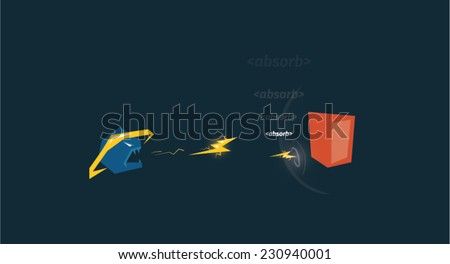 Browser attacking the valid code - stock vector
