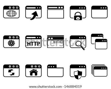 browser icon set  - stock vector