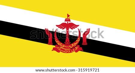 Brunei Darussalam Flag - stock vector