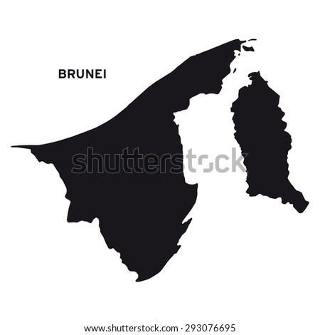 Brunei map vector