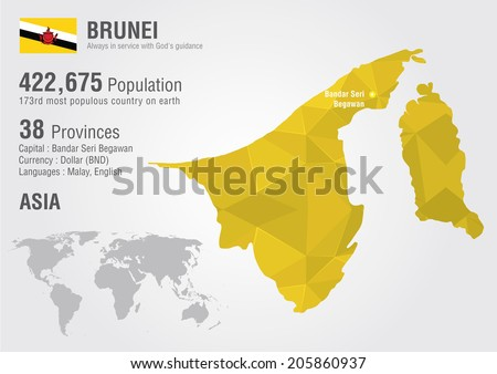 Brunei world map pixel diamond texture stock vector 205860937 brunei world map with a pixel diamond texture world geography gumiabroncs Image collections