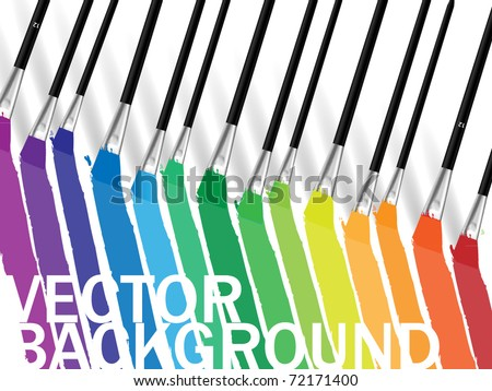 Brush and colorful prints background - stock vector