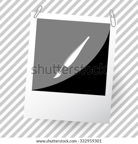 brush. Photoframe. Vector icon.