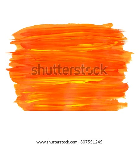 Brush stroke. Acrylic paint stain. Stroke of the paint brush texture isolated on white - stock vector