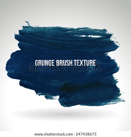 Brush stroke and texture. Vector design. - stock vector