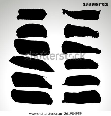 Brush stroke and texture. Vector design. - stock vector
