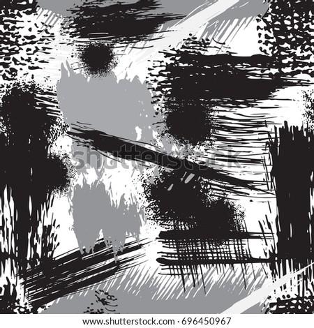 brush strokes seamless pattern dry brush stock vector royalty free