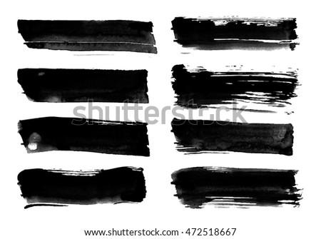 brush strokes rough edge dry brush stock vector 472518667 shutterstock