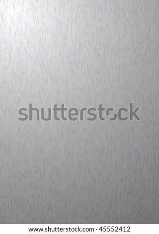 Brushed silver metal aluminum background with grain - stock vector