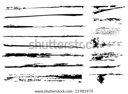 Brushes - stock vector