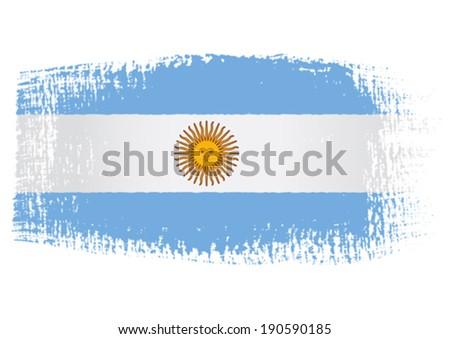 brushstroke flag Argentina - stock vector