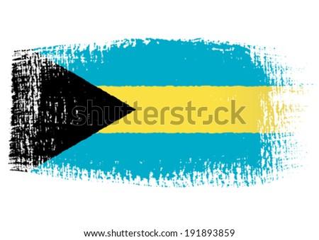 brushstroke flag Bahamas - stock vector