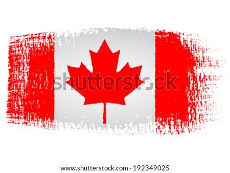 brushstroke flag Canada - stock vector