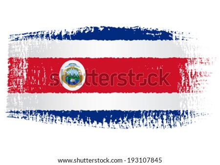 brushstroke flag Costa Rica - stock vector