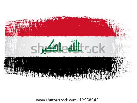brushstroke flag Iraq - stock vector