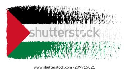 brushstroke flag Palestine - stock vector