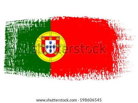 brushstroke flag Portugal - stock vector