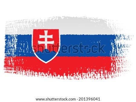 brushstroke flag Slovakia - stock vector
