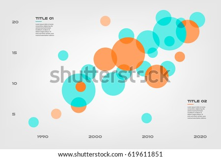 Bubble Chart Elements Venn Diagram Infographics Stock Photo Photo