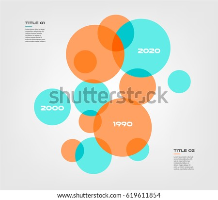 Bubble Chart Elements Venn Diagram Infographics Stock Vector