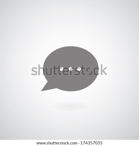 bubble chat  symbol on gay background  - stock vector